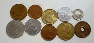 WORLD 10 DIFFERENT COINS LOT 2