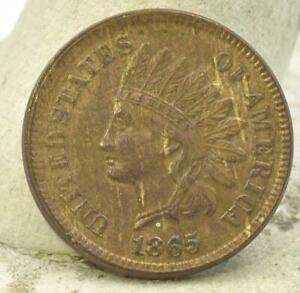 RAW 1865 INDIAN HEAD SMALL CENT PENNY 1C FULL LIBERTY SHARP DETAILS