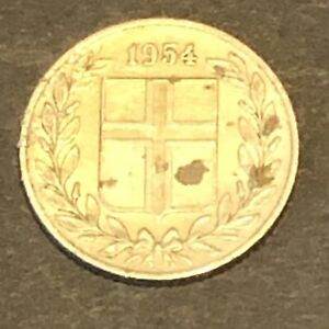 1954 ICELAND   25 AURAR GREAT PRICE AND