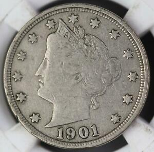 1901 LIBERTY V NICKEL   GREAT DETAILS  DOUBLEJCOINS  110557