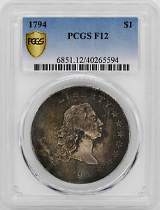 Click now to see the BUY IT NOW Price! 1794 FLOWING HAIR $1 PCGS F 12