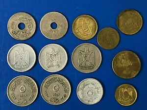 LOT OF EGYPTIAN COINS MILLIEMES & PIASTRES MIDDLE EAST