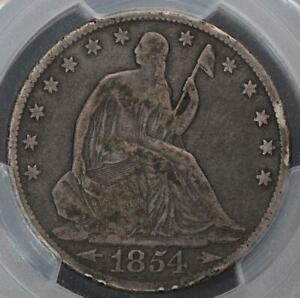 1854 O SEATED LIBERTY HALF DOLLAR   PCGS F DETAILS    DOUBLEJCOINS    5008 12