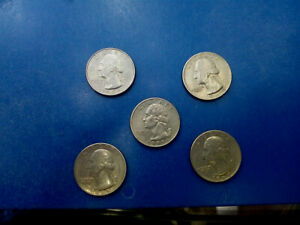 USA COIN LOT OF QUARTER DOLLAR 5 PCS T2614