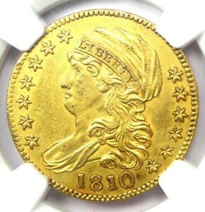 1810 CAPPED BUST GOLD HALF EAGLE $5 COIN   NGC UNCIRCULATED DETAILS  UNC MS