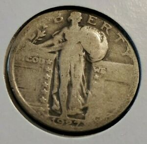 1927 P 25C STANDING LIBERTY QUARTER 90  SILVER COIN