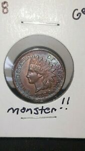 UNCIRCULATED 1888 INDIAN HEAD CENT SHARP SPECIMEN MONSTER TONED