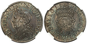 Click now to see the BUY IT NOW Price! ENGLAND OLIVER CROMWELL 1658 AR SHILLING. NGC MS63 KM A207; S 3228; ESC 1005.