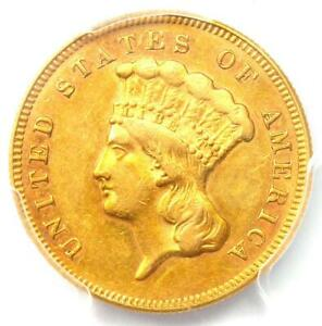 1874 THREE DOLLAR INDIAN GOLD COIN $3   CERTIFIED PCGS AU55    COIN