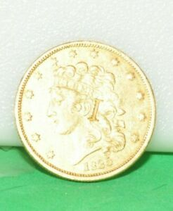 1835 US $5 GOLD PIECE COUNTERSTAMP I ON OBV. L ON REV AUTHENTIC