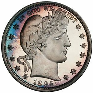 Click now to see the BUY IT NOW Price! 1895 50C BARBER HALF DOLLAR PCGS PR68CAM CAC