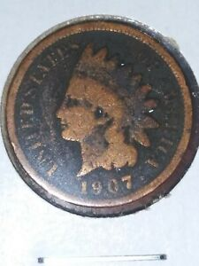 1907 INDIAN HEAD PENNY GOOD TO FINE DETAILS CLEANED NICE FILLER DATE