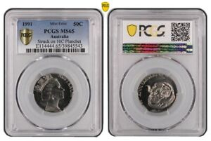 Click now to see the BUY IT NOW Price! 1991 50 CENT MINT ERROR COIN STRUCK ON THE 10 CENT PLANCHET PCGS GRADED MS65