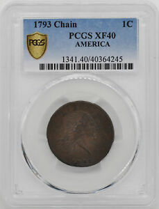 Click now to see the BUY IT NOW Price! 1793 CHAIN 1C PCGS XF 40