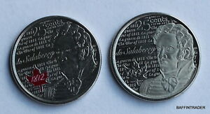2 X CANADA 2013 CANADIAN QUARTER 25 CENT COIN DE SALABERRY WAR OF 1812
