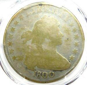 1800 DRAPED BUST SILVER DOLLAR $1 COIN   CERTIFIED PCGS AG DETAILS    DATE