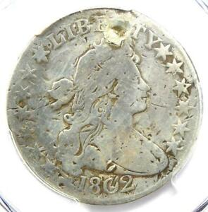 1802 DRAPED BUST HALF DOLLAR 50C COIN   PCGS VG DETAILS  PLUGGED     DATE