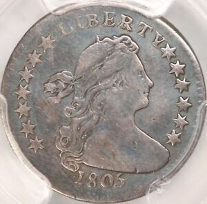 1805 DRAPED BUST HALF DIME PCGS VF DETAILS DAMAGED