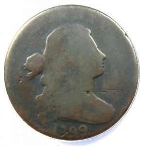 1799 DRAPED BUST LARGE CENT 1C S 189 COIN   ANACS AG3 DETAILS    KEY DATE