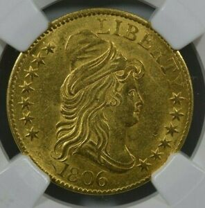 1806 $5 KNOBBED 6 NGC MS61