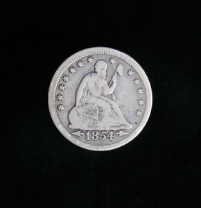 1854 LIBERTY SEATED QUARTER ARROWS