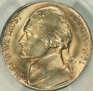 Click now to see the BUY IT NOW Price! 1951 S JEFFERSON NICKEL PCGS MS67FS   TOP POP  3/0