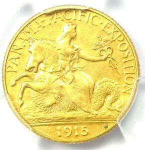 1915 S PANAMA PACIFIC GOLD QUARTER EAGLE $2.50 COIN   CERTIFIED PCGS AU DETAILS