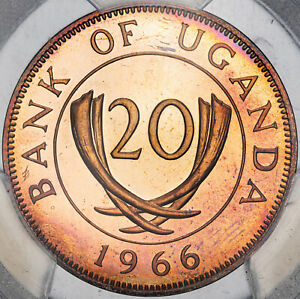 Click now to see the BUY IT NOW Price! 1966 UGANDA 20 CENTS PCGS PR65RD CAM FINEST KNOWN WORLDWIDE GEM CHOICE  MR
