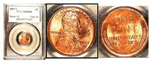Click now to see the BUY IT NOW Price! 1917 S 1C MS65RD PCGS  ONLY 4 FINER  LINCOLN WHEAT CENT