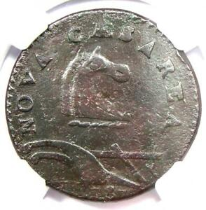 1787 NEW JERSEY COLONIAL COIN  PLURIRUS ERROR VARIETY    CERTIFIED NGC XF DETAIL