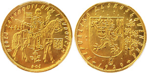Click now to see the BUY IT NOW Price! 1929 CZECHOSLOVAKIA: REPUBLIC GOLD 5 DUCATY PCGS MS66