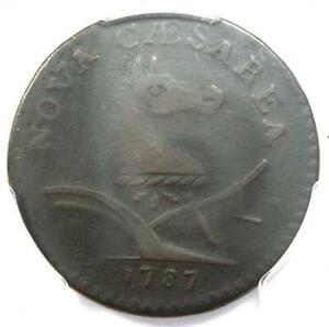 1787 NEW JERSEY COLONIAL COIN  PLURIBS ERROR VARIETY    PCGS VF20   $2 600 VALUE