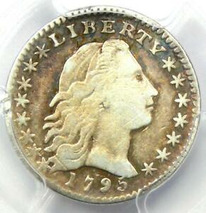 1795 FLOWING HAIR HALF DIME H10C   CERTIFIED PCGS FINE DETAILS    COIN