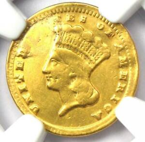 1859 C INDIAN GOLD DOLLAR G$1   CERTIFIED NGC XF DETAILS    CHARLOTTE COIN