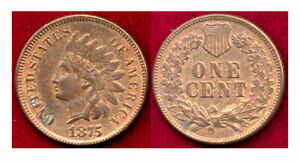 Click now to see the BUY IT NOW Price! 1875 1C SIGNIFICANT ORIGINAL RED MINT LUSTER INDIAN HEAD CENT