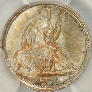 Click now to see the BUY IT NOW Price! 1837 NO STARS LARGE DATE SEATED HALF DIME PCGS MS67   TOP POP  6/0