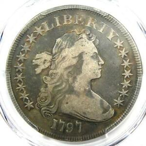 1797 DRAPED BUST SMALL EAGLE SILVER DOLLAR $1 9X7   PCGS FINE DETAIL    COIN