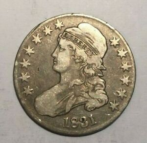 1831 CAPPED BUST 90  SILVER HALF DOLLAR  VF   ERROR COIN ?