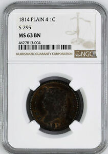 Click now to see the BUY IT NOW Price! 1814 CLASSIC HEAD 1C NGC MS 63 BN