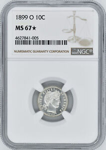 Click now to see the BUY IT NOW Price! 1899 O BARBER 10C NGC MS 67