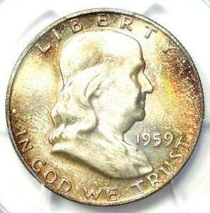 Click now to see the BUY IT NOW Price! 1959 D FRANKLIN HALF DOLLAR 50C   PCGS MS66  FBL PLUS GRADE   $1 750 VALUE