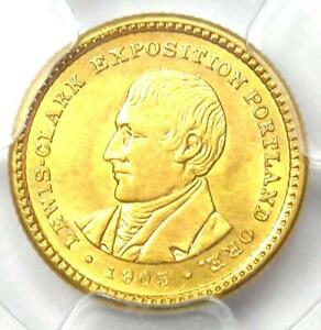 1905 LEWIS & CLARK GOLD DOLLAR G$1   CERTIFIED PCGS UNCIRCULATED DETAIL  UNC MS