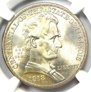 1918 LINCOLN ILLINOIS HALF DOLLAR 50C   NGC MS67    IN MS67   $2 600 VALUE