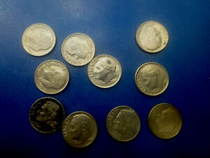 USA COIN LOT OF 1 DIME 10 PCS   T3236