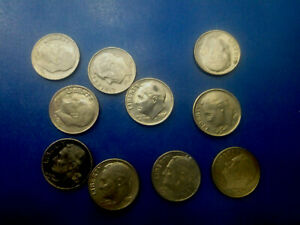 USA COIN LOT OF 1 DIME 10 PCS   T3576