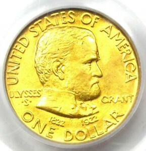 1922 GRANT GOLD DOLLAR G$1 COIN   CERTIFIED PCGS MS63  BU UNC    $1 250 VALUE