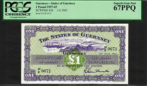 Click now to see the BUY IT NOW Price! GUERNSEY ONE POUND 1963 LOW SERIAL  0071 PICK 43B SUPERB GEM UNC PCGS 67 PPQ