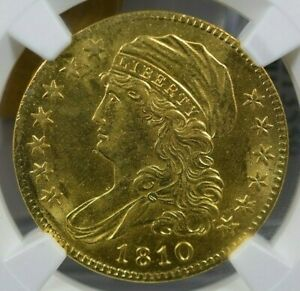 1810 $5 SMALL DATE TALL 5 NGC MS62 EX BASS