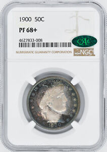 Click now to see the BUY IT NOW Price! 1900 BARBER 50C NGC PR 68