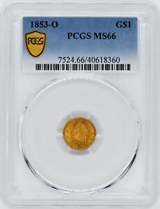 Click now to see the BUY IT NOW Price! 1853 O GOLD G$1 PCGS MS 66